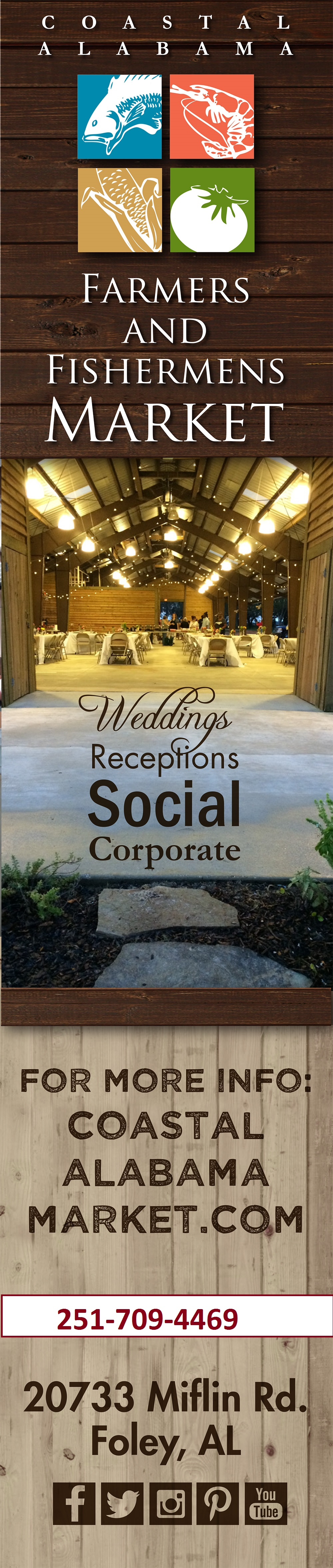 Rental Facilities for Weddings, Receptions, Social Gatherings and Corporate Events